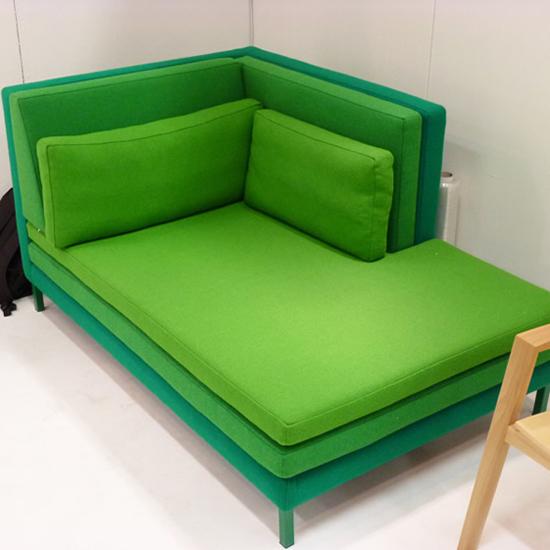 кушетка модного в 2013 году зеленого цвета Branca-Lisboa