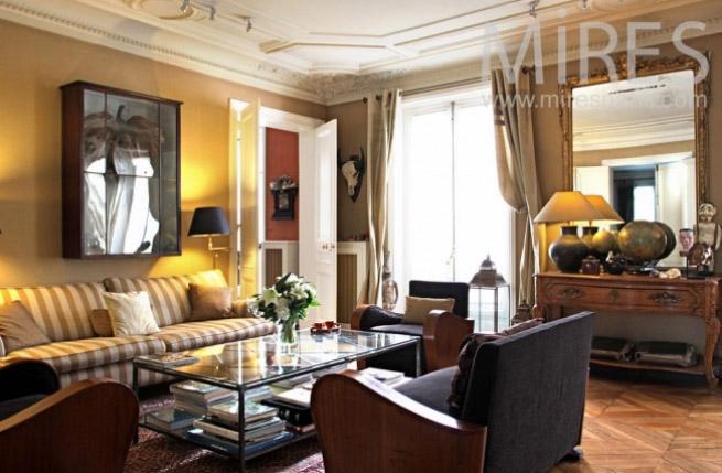 парижский стиль в интерьере - квартира в османовском доме