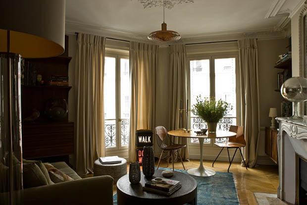 парижский стиль в интерьере смешение классики и современности круглый стол