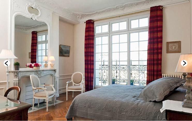 парижский стиль в интерьере - спальня в османовском доме