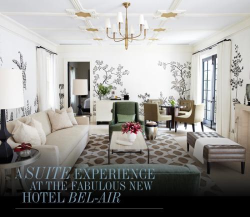 Цвет в интерьере - белая комната с контрастной росписью и темными акцентами