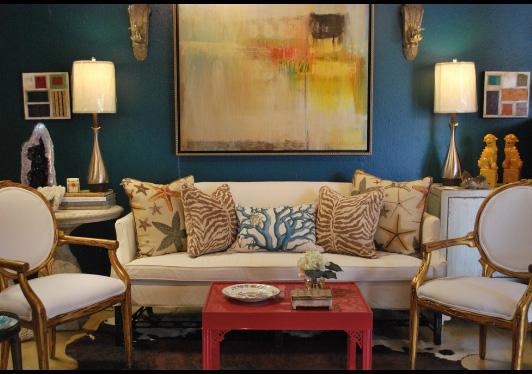 морской стиль в оформлении интерьера гостиной и в текстиле
