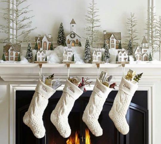 как украсить дом на новый год 2019 главное вокруг камина