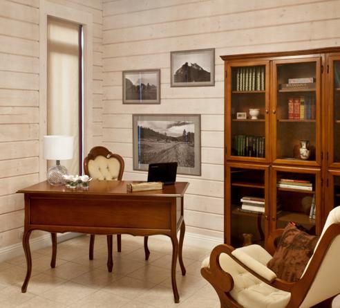 мужской кабинет с черно-белыми фотографиями пейзаж и лошади