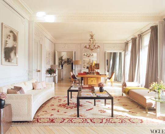 Квартира Мика Джаггера в парижском стиле