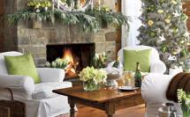 праздничный новогодний декор гостиной
